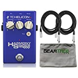 TC Helicon 996371001 Harmony Singer 2 Vocal Effects Pedal XLR Cables and Zorro Sounds Effects Cloth