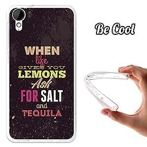 BeCool® - Funda Gel Flexible HTC Desire 825 When Life Gives You Lemons Carcasa Case Silicona TPU Suave