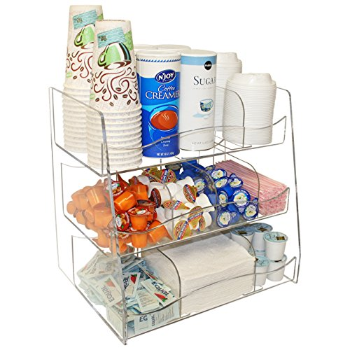 Coffee Condiment Organizer Clearly a First Class Presentation for You Customers. Made in the USA by PPM (clear) by Plastic & Products Marketing PPM