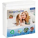 magichome Mattress Protector Waterproof Bed Bug Proof Mattress Pad Cover Cotton Deep Pocket Twin Size