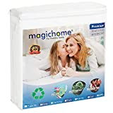 magichome Mattress Protector | Padded Cover with Deep Pocket | Protects from Bed Bug & Dust Mites| Available for Queen Size Mattress | Made of Cotton | 100% Waterproof | Easy Care & Machine Washable