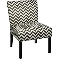 Red Hook Furniture Giada Contemporary Upholstered Armless Accent Chair - Grey Chevron