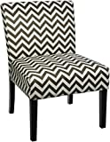 Cheap Red Hook Furniture Giada Contemporary Upholstered Armless Accent Chair – Grey Chevron