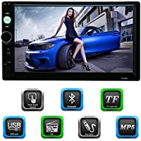 Docooler® Universal 7 Inch 2 Din HD Bluetooth Car Radio MP5 Player & Receiver Multimedia Radio Entertainment USB/TF FM Aux Input