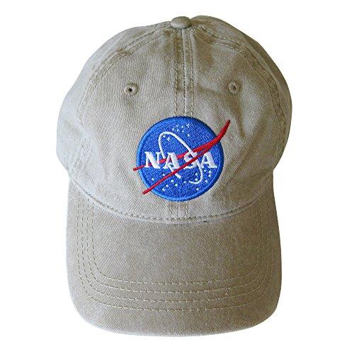 NASA insignia Embroidered Pigment Dyed Cap (khaki) Pigment Cap