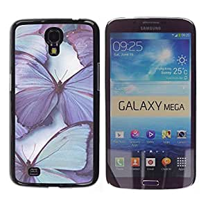 Design for Girls Plastic Cover Case FOR Samsung Galaxy Mega 6.3 Butterfly Purple Blue Spring Nature OBBA