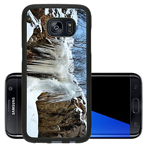 Liili Premium Samsung Galaxy S7 Edge Aluminum Backplate Bumper Snap Case massive ice and icicle hanging from a big cliff side 29281828