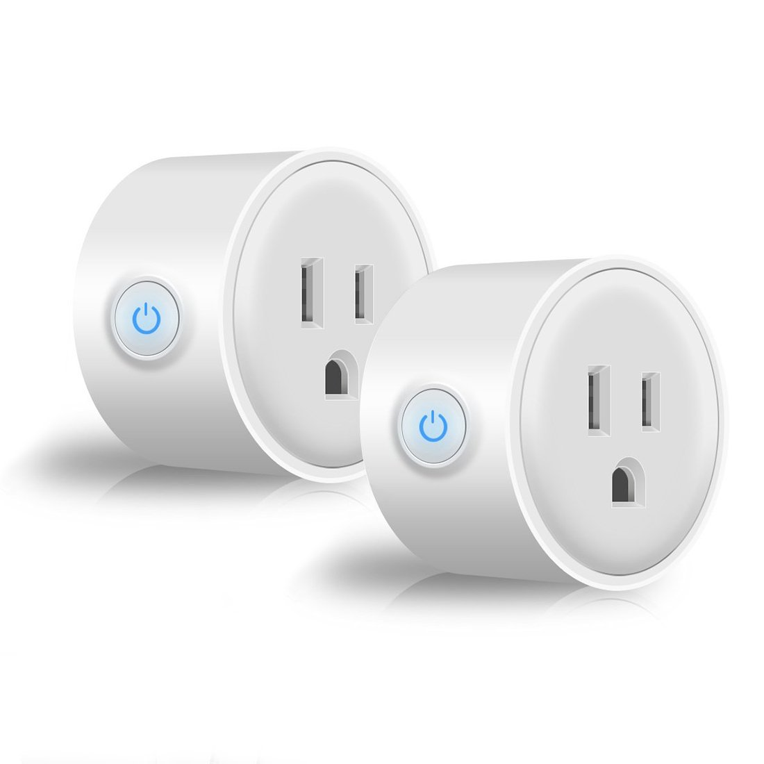 2-Pack Smart Plug Wi-Fi Home Electrical Timing Outlet Remote Control Power Switch No Hub Required Compatible with Alexa and Google Assistant