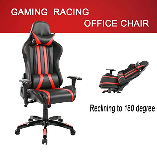 51I3dcMJzgL - Tongli-Video-Game-Chair-Adjustable-Height-Computer-Office-Recliner-Chair-with-Neck-Pillow-and-Lumbar-Support-No-Footrest-Redblack