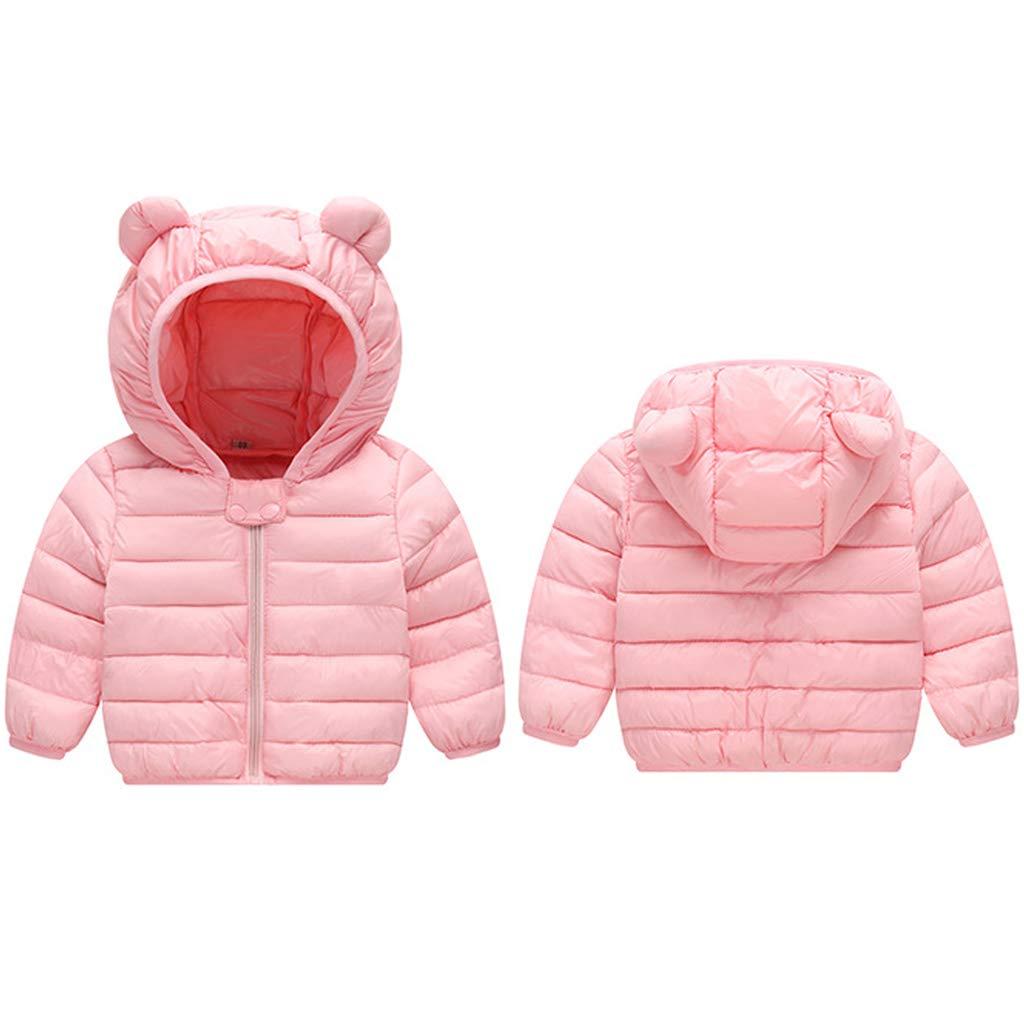 Bambino Piumino Inverno Giacche di piuma Cappotto con Cappuccio Ragazzi Ragazze Leggero Giubbotti Blu 6-12 Mesi