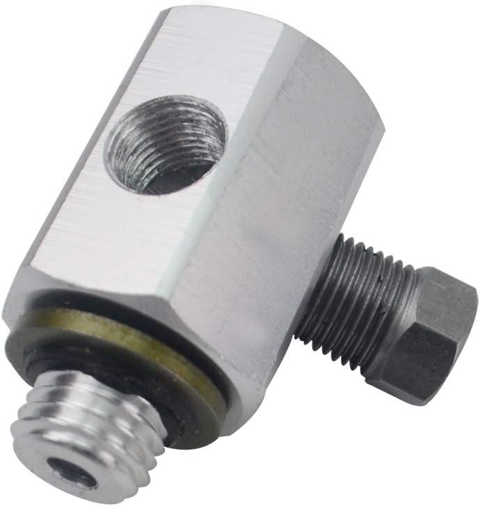 PQYRACING 3 Port Oil Pressure Temperature Gauge Adaptor T Piece Compatible for for BMW 3 Series E30 E36