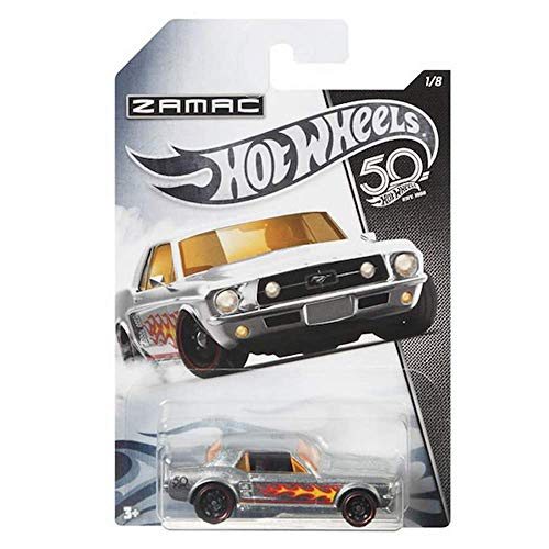 HOT WHEELS ZAMAC '67 FORD MUSTANG COUPE 1/8 50 ANIVERSARIO