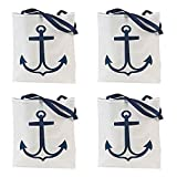Nautical Anchor Tote Bags  - Pack of 12