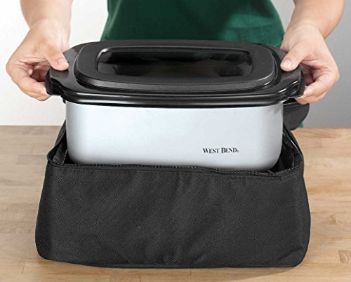 West Bend 84915 5-Quart Oblong-Shaped Slow Cooker with Tote by West Bend (Image #1)