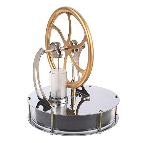 Cettkowns Low Temperature Stirling Engine Motor Steam Heat Education Model Toy Kit