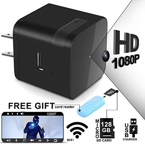1080P Spy Camera Wireless Hidden - USB Wall Charger Adapter Hidden Camera with Night Vision- Remote View with APP - Home Security Nanny Camera - Motion Detection - Real Time Surveillance