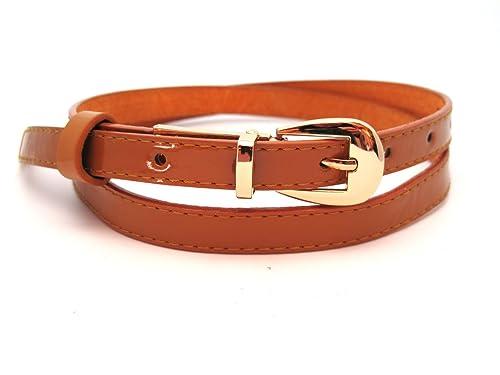 """Cintura sottile in pelle """"Marta"""" per donna – Larghezza 1,5 cm – Ampia scelta di colori"""