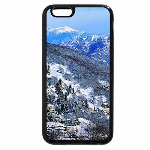 iPhone 6S / iPhone 6 Case (Black) fantastic mountain resort town in winter