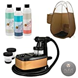 Aura Allure Spray Tan Machine Kit with Focus Tanning Solution and Bronze Tent
