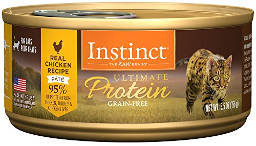 Instinct Ultimate Protein Grain Free Real Chicken Recipe Natural Wet Canned Cat Food by Nature's Variety, 5.5 oz. Cans (Case of 12)