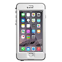 "LifeProof NUUD iPhone 6 Plus ONLY Waterproof Case (5.5"" Version) - Retail Packaging -  AVALANCHE (BRIGHT WHITE/COOL GREY)"