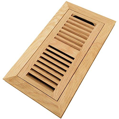 Cheap  Homewell White Oak Wood Floor Register, Flush Mount Vent With Damper, 4x10..