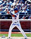 Juan Lagares Autographed Signed New York Mets At Bat 8x10 Photo