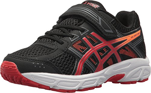 ASICS Kids Boy's Gel-Contend 4 PS (Toddler/Little Kid) Black/Fiery Red/Shocking Orange 3 Little Kid