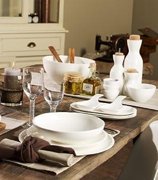 Blanco Redondo Villeroy /& Boch Artesano Original Plato para servir Porcelana Premium