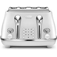 DeLonghi Icona Elements, 4 Slice Toaster, CTOE4003W, Cloud White