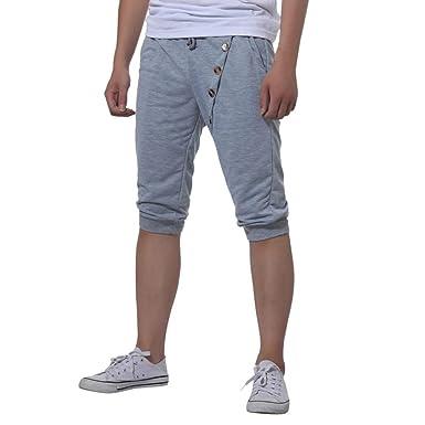 acheter en ligne 96ceb 2a71b Pantalon de Jogging Court Homme,Overdose Été Casual Bermuda Coton  Survêtement Slim Gym Sportswear Short
