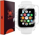 (US) Apple Watch Series 2 Screen Protector + Full Body(42mm), Skinomi TechSkin Full Coverage Skin + Screen Protector for Apple Watch Series 2 Front & Back Clear HD Film - with