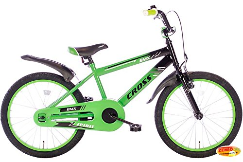 Spirit Jungenrad BMX Cross Grün 20 Zoll