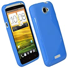 igadgitz Dual Tone Blue Durable Crystal Gel Skin (TPU) Case Cover for HTC One X S720e & HTC One X+ Plus Android Smartphone Mobile Phone + Screen Protector