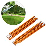 Outdoor Tent Pole Rod,2 PCS Aluminium Alloy Tent Bar Rod Pole Tent Accessories Tent Building Supporting Rod Pole Awning Frames Kit For Hiking Camping
