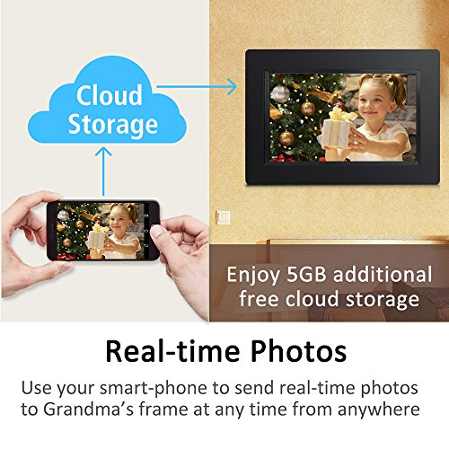 Sungale 7-inch WiFi Cloud Digital Photo Frame w/ Touch Panel, Free ...