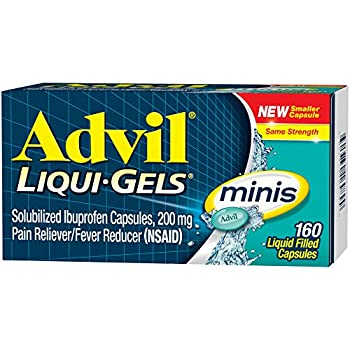Advil Liqui-gels Minis (160 Count) Pain Relieverfever Reducer Liquid Filled Capsule, 200mg Ibuprofen, Easy To Swallow, Temporary Pain Relief 2