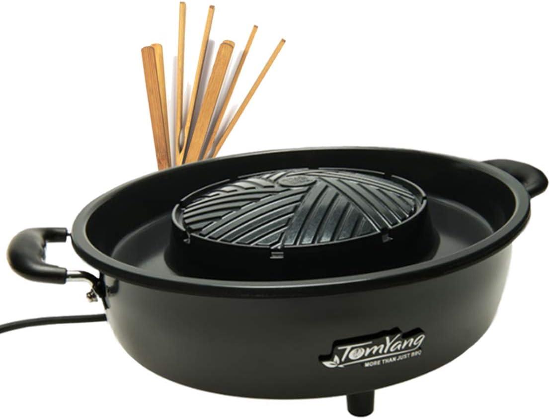 TomYang - Parrilla BBQ eléctrica Thai - Barbacoa y Hot Pot: Amazon ...