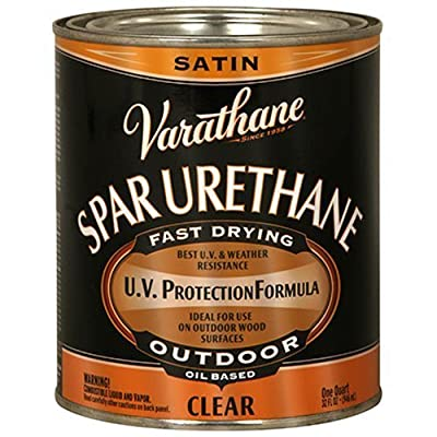 Rust-Oleum Varathane 1-Quart Classic Clear Oil Based Outdoor Spar Urethane