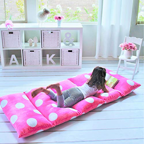 Price comparison product image Butterfly Craze Girl's Floor Lounger Seats Cover Pillow Cover Made Super Soft, Luxurious Premium Plush Fabric - Perfect Reading Watching TV Cushion - Great SLEEPOVERS Slumber Parties