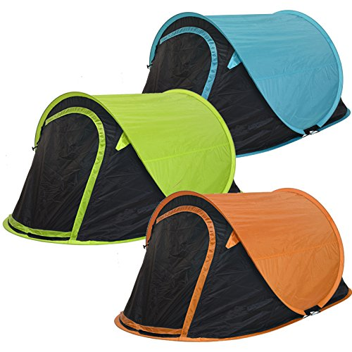 Zelt Pop Up Wurfzelt 2 Personen von JEMIDI Festival Zelte Trekkingzelt Campingzelt Automatik Sekundenzelt Strand Strandzelt 220cm x 120cm x 95cm 2 Mann Popup Wurfzelte Orange