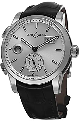 Ulysse Nardin Gmt Dua lTime Men's Automatic GMT Watch 334-312-6/91