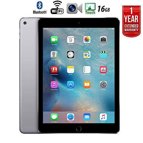 Apple iPad Air 2 16GB Wifi with 1 Year Extended WARRANTY - (Renewed) (Best Tablet Extended Warranty)