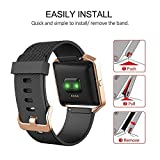 Fibit-Blaze-Bands-iHYQ-Sport-Silicone-Soft-Band-with-Ventilation-Holes-and-Matte-Stainless-Steel-Frame-for-Fitbit-Blaze-Smart-Fitness-Watch