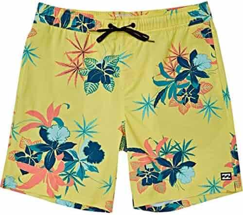 hhllq 2019 Summer Male Elastic Band Shorts Casual Light Breathable Printing Shorts