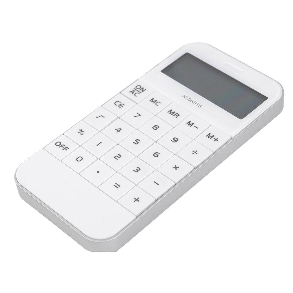 wei/ß Badalink Kleiner Wissenschaftlicher Taschenrechner Sharp Schule Mini Rechner Caculator mit Nat/ürlichem Display