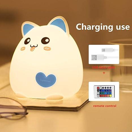 Cargador USB gato dibujos animados pat luz colorida color ...