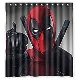 Cool X Men Deadpool Creative Custom Waterproof Shower Curtain Bathroom Curtains 60x72 inches