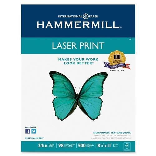 Hammermill - Laser Print Paper, 26lb, 98 Bright, 8.5 x 11