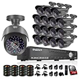 TMEZON 16CH 1080N 5 in 1 AHD Video DVR Security System 16 AHD 2.0MP Super Night Vision Indoor/Outdoor Security Camera Transmit Range P2P/QR Code Scan Easy Setup with 2TB HDD Review